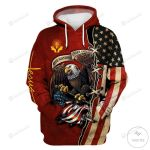 Jesus USA Flag And Eagle One Nation Under God 3D All Over Print Hoodie, Zip-up Hoodie
