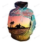 Waves At Hawaii Beach 3D All Over Print Hoodie, Zip-up Hoodie