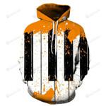 Abstract Piano Keys 3D All Over Print Hoodie, Zip-up Hoodie