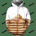 Syrup Pancakes 3D All Over Print Hoodie, Zip-up Hoodie