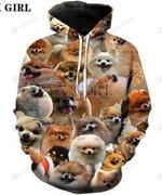 Animals Collage 3D All Over Print Hoodie, Zip-up Hoodie