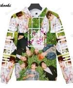 Green Men BTS 3D All Over Print Hoodie, Zip-up Hoodie