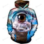 Astronaut Eye 3D All Over Print Hoodie, Zip-up Hoodie