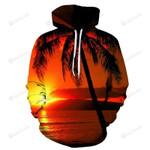 Sunset At Hawaii Beach 3D All Over Print Hoodie, Zip-up Hoodie