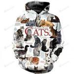Cats 3D All Over Print Hoodie, Zip-up Hoodie
