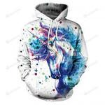 Unicorn 3D All Over Print Hoodie, Zip-up Hoodie