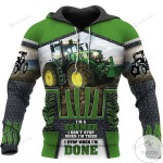Beautiful Tractor I'm A Farmer I Don't Stop When I'm Tired 3D All Over Print Hoodie, Zip-up Hoodie