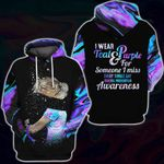I Wear Teal Purple For Someone Suicide Prevention Awareness 3D All Over Print Hoodie, Zip-up Hoodie