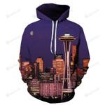 Seattle Sky Needle 3D All Over Print Hoodie, Zip-up Hoodie