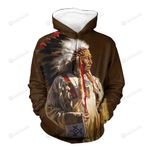 Native American Chief When An Elder Speaks Be silent And Listen 3D All Over Print Hoodie, Zip-up Hoodie