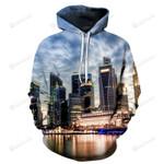 Singapore Skyline 3D All Over Print Hoodie, Zip-up Hoodie