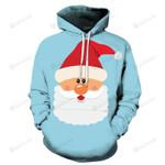 Cute Santa Christmas 3D All Over Print Hoodie, Zip-up Hoodie