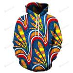 Vibrant Tribal Art 3D All Over Print Hoodie, Zip-up Hoodie