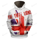 Flag of England The Three Lions 3D All Over Print Hoodie, Zip-up Hoodie