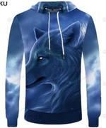 Wolf 3D All Over Print Hoodie, Zip-up Hoodie