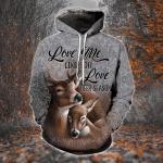 Love Me Like You Love Deer Season 3D All Over Print Hoodie, Zip-up Hoodie