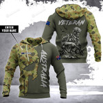 Personalized Australian Army Veteran Camouflage 3d All Over Print Hoodie, Zip-Up Hoodie