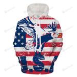 American Pride 3D All Over Print Hoodie, Zip-up Hoodie