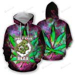 Don't Care Bear Weed 3d All Over Print Hoodie, Zip-Up Hoodie