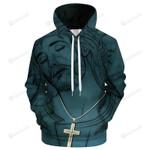 Jesus Cross 3D All Over Print Hoodie, Zip-up Hoodie