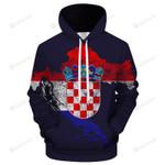 Croatia Flag 3D All Over Print Hoodie, Zip-up Hoodie