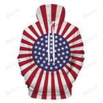 American Twist 3D All Over Print Hoodie, Zip-up Hoodie