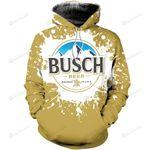 Busch Light 3D All Over Print Hoodie, Zip-up Hoodie