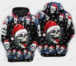 Christmas Skull On The Naughty 3D All Over Print Hoodie, Zip-up Hoodie