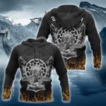 Vikings Fire 3D All Over Print Hoodie, Zip-up Hoodie