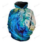 Blue Horse 3D All Over Print Hoodie, Zip-up Hoodie