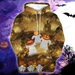 Halloween Trick or Treat Boo Pumpkin 3D All Over Print Hoodie, Zip-up Hoodie