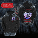 Persoanlized I Love You Forever And Always Hear Shadow Custom Black 3D All Over Print Hoodie, Zip-up Hoodie