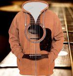 Guitar 3D All Over Print Hoodie, Zip-up Hoodie