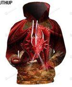 Dragon 3D All Over Print Hoodie, Zip-up Hoodie