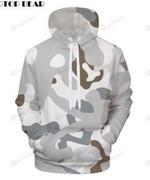 Camouflage 3D All Over Print Hoodie, Zip-up Hoodie