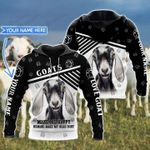 Personalized Goats Make Me Happy, Humans Make My Head Hurt 3D All Over Print Hoodie, Zip-up Hoodie