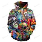 Trippy Artwork Pullover 3D All Over Print Hoodie, Zip-up Hoodie