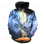 Wolves Casual Summer 3D All Over Print Hoodie, Zip-up Hoodie