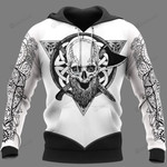 Viking Warrior Symbols 3D All Over Print Hoodie, Zip-up Hoodie