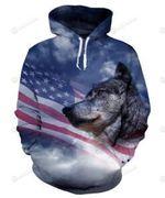 Wolf USA Flag 3D All Over Print Hoodie, Zip-up Hoodie