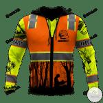 Arborist Safety 3D All Over Print Hoodie, Zip-up Hoodie