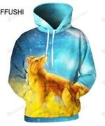 Fox Fire Ice Man 3D All Over Print Hoodie, Zip-up Hoodie