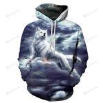 Gray Wolf 3D All Over Print Hoodie, Zip-up Hoodie