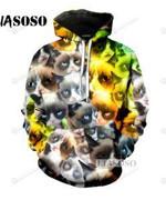 Dux SHIBA Funny Animals Meme 3D All Over Print Hoodie, Zip-up Hoodie