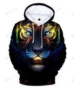 Tiger 3D All Over Print Hoodie, Zip-up Hoodie