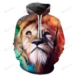 Animals Lion 3D All Over Print Hoodie, Zip-up Hoodie