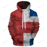 Iceland Flag 3D All Over Print Hoodie, Zip-up Hoodie