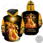 Fall For Jesus He Never Leaves 3D All Over Print Hoodie, Zip-up Hoodie
