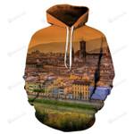 Florence Italy 3D All Over Print Hoodie, Zip-up Hoodie