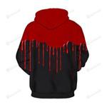 Blood Flowing 3D All Over Print Hoodie, Zip-up Hoodie